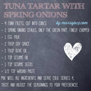 Tuna tartar with spring onions