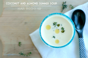 Coconut and almond summer soup