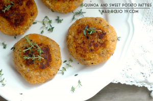 Quinoa and sweet potato patties