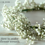 D.I.Y. How to make a fresh flower wreath.