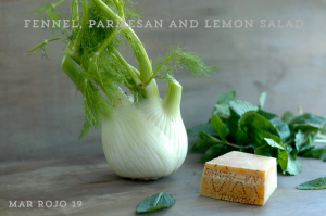Fennel, parmesan and lemon salad