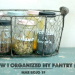 HOW I ORGANIZED MY PANTRY (II) Mason jars, spices and chalk paint.